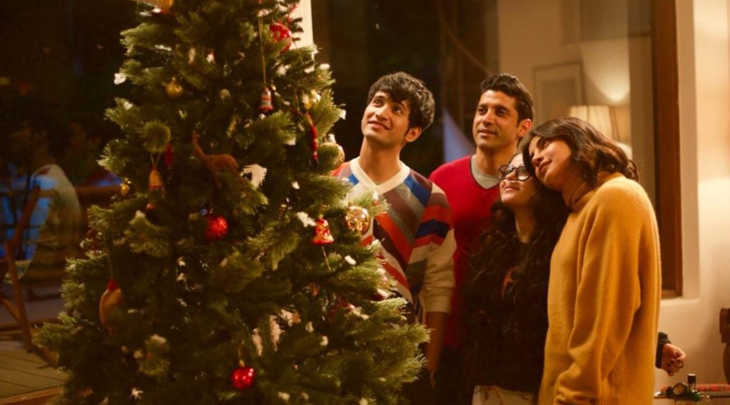 Farhan Akhtar, Priyanka Chopra, Zaira Wasim, and Rohit Saraf in The Sky Is Pink (2019)