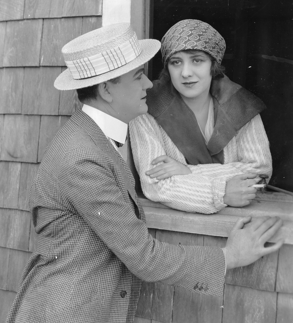 Jean Acker and Thomas Carrigan in Checkers (1919)