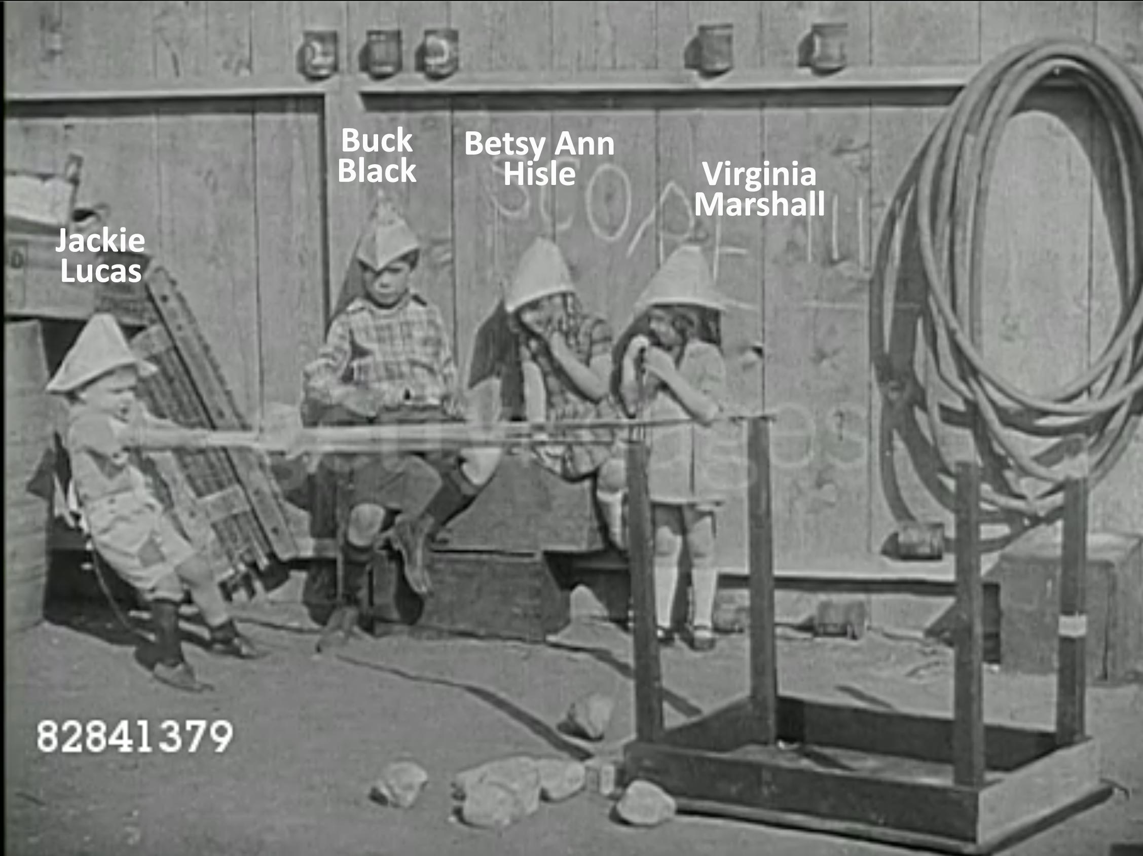 Buck Black, Betsy Ann Hisle, Jackie Lucas, and Virginia Marshall in The Hollywood Kid (1924)