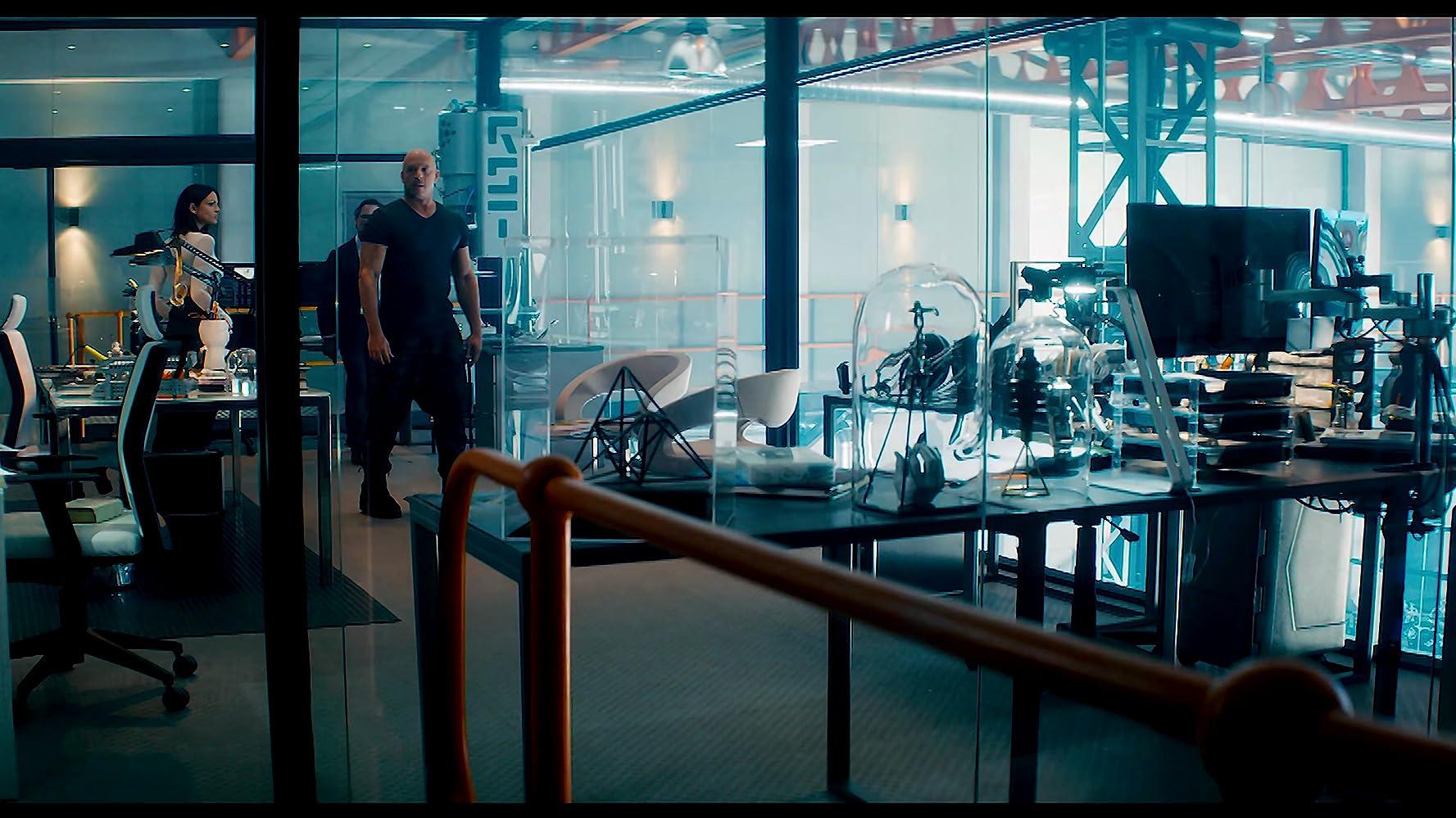 Vin Diesel and Eiza González in Bloodshot (2020)