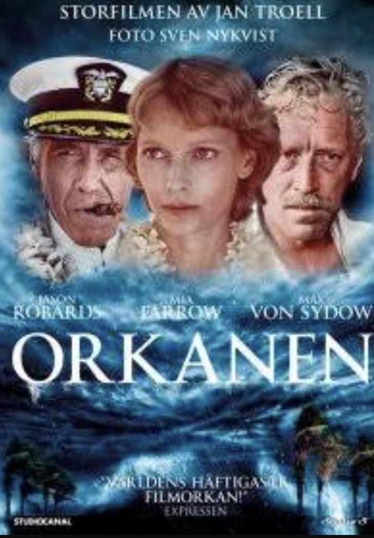 Mia Farrow, Jason Robards, and Max von Sydow in Hurricane (1979)