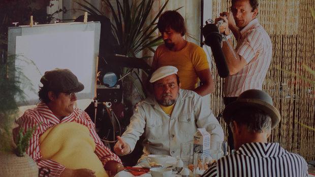 Erik Balling and Poul Bundgaard in Olsen-banden på sporet (1975)