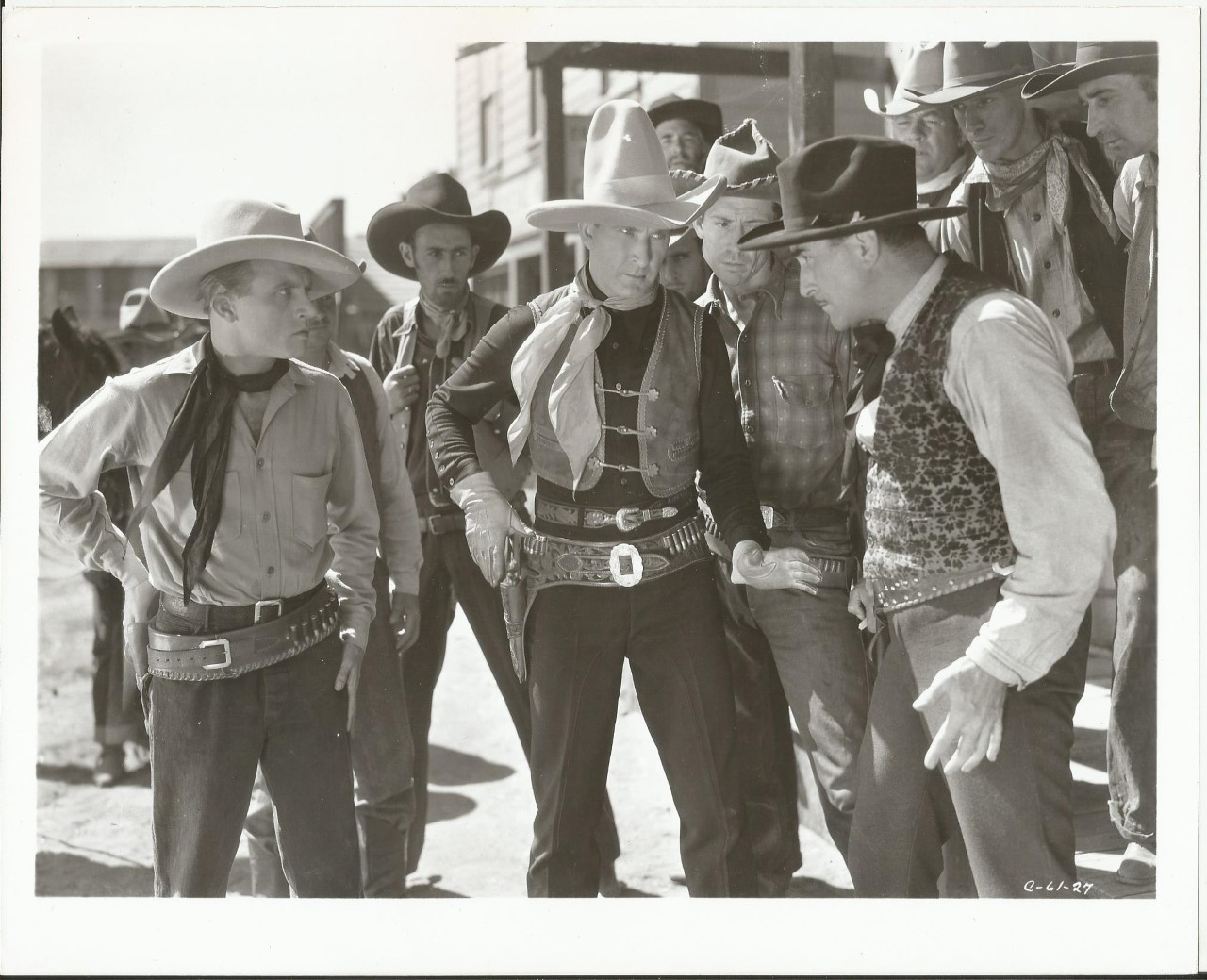 Tim McCoy, Chuck Baldra, Dwight Frye, and Wheeler Oakman in The Western Code (1932)