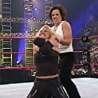 Nora Greenwald and Trish Stratus in WWE Unforgiven (2002)