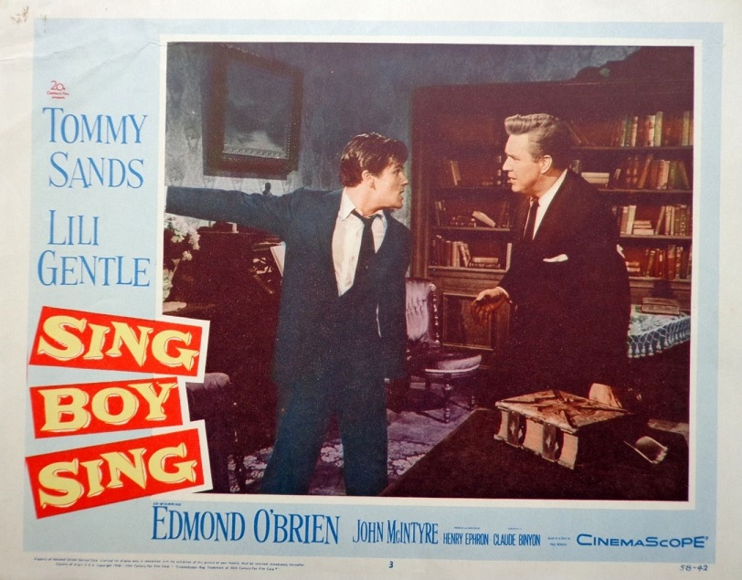 Edmond O'Brien and Tommy Sands in Sing Boy Sing (1958)