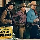Rufe Davis, Neal Hart, Robert Livingston, and Bob Steele in Pals of the Pecos (1941)
