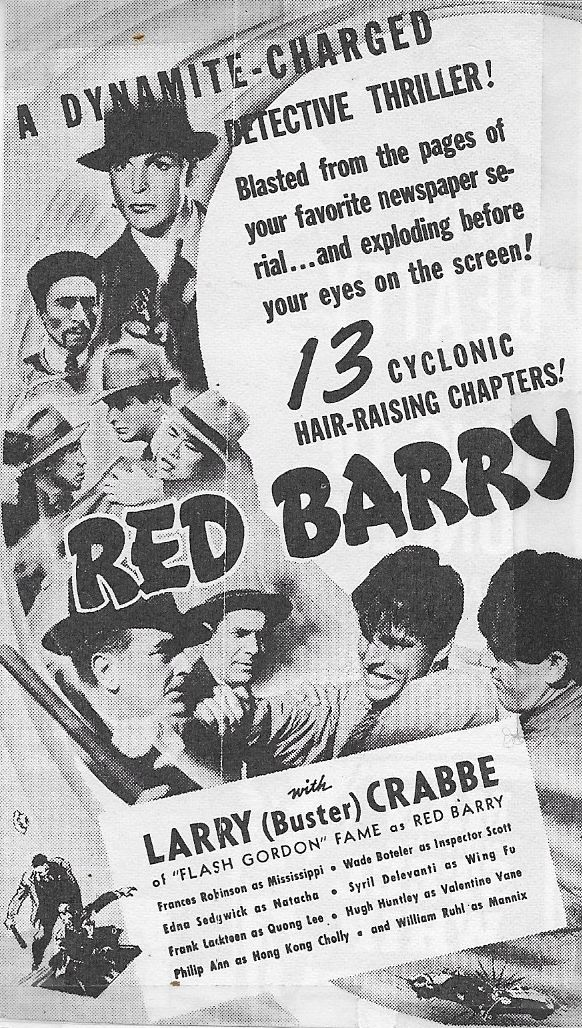 Philip Ahn, Buster Crabbe, Hugh Huntley, Frank Lackteen, and William Ruhl in Red Barry (1938)