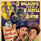 Boris Karloff, Bud Abbott, and Lou Costello in Abbott and Costello Meet Dr. Jekyll and Mr. Hyde (1953)