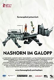 Nashorn im Galopp Poster