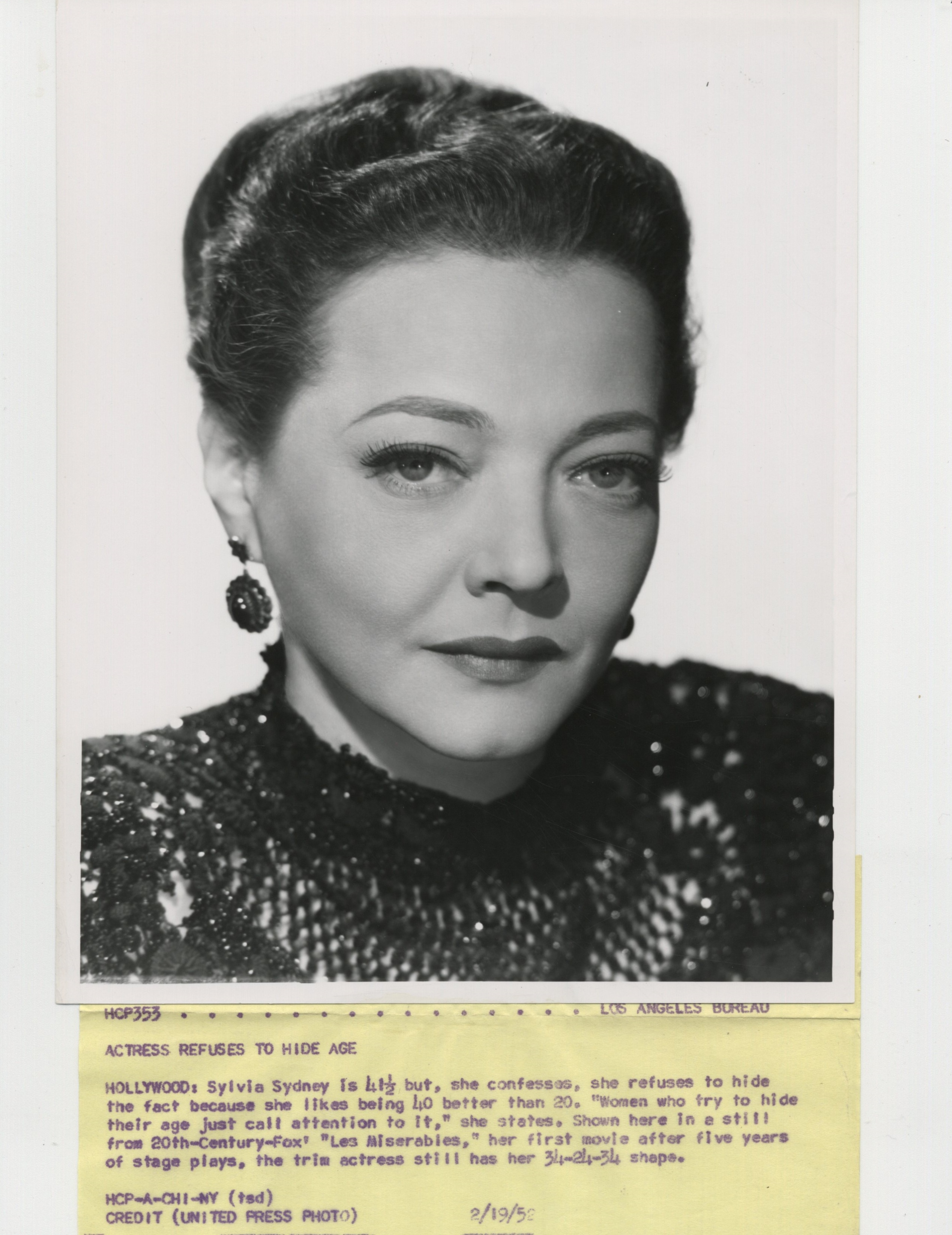 Sylvia Sidney in Les Miserables (1952)