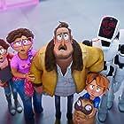 Fred Armisen, Maya Rudolph, Danny McBride, Beck Bennett, Abbi Jacobson, Michael Rianda, and Doug the Pug in The Mitchells vs the Machines (2021)