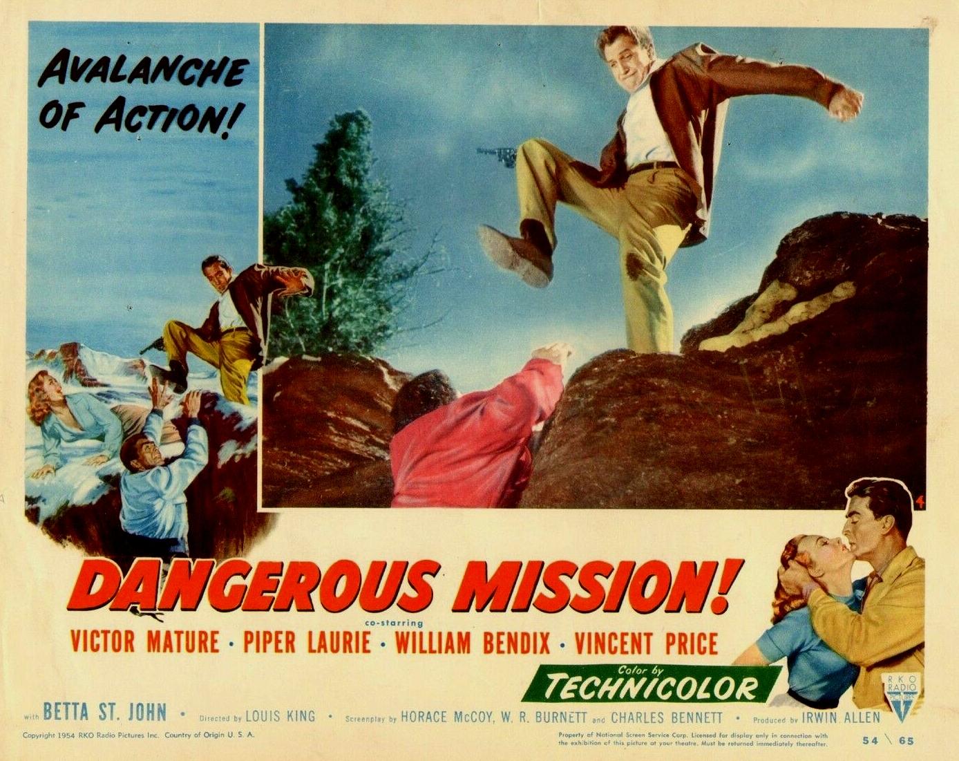Vincent Price in Dangerous Mission (1954)