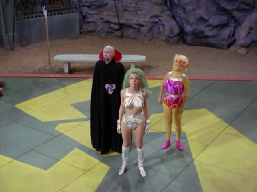 Angelique Pettyjohn, Joseph Ruskin, and Jane Ross in Star Trek (1966)