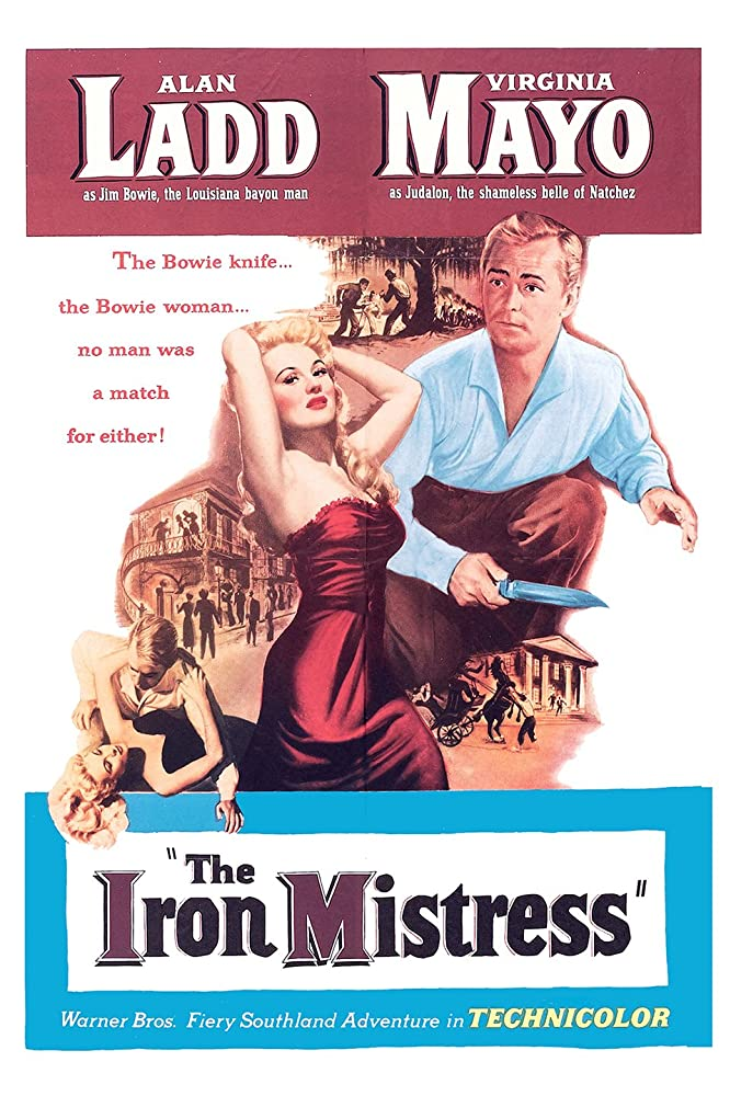 Alan Ladd and Virginia Mayo in The Iron Mistress (1952)