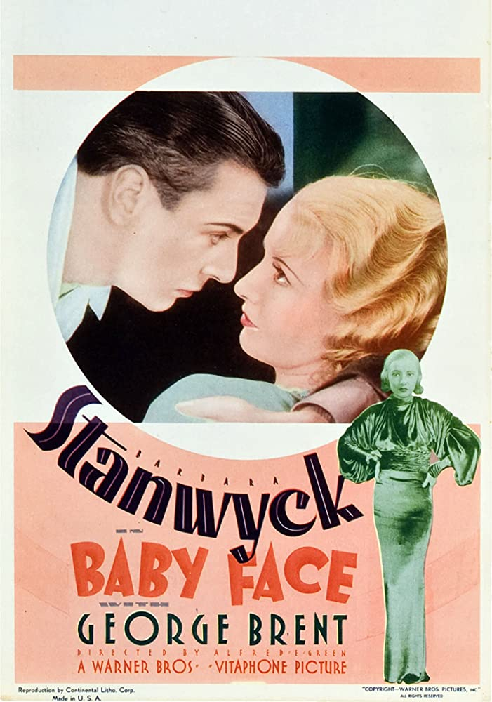 Barbara Stanwyck and George Brent in Baby Face (1933)