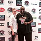 Matthew Sauvé and Quinton Aaron pose for a red carpet photo while promoting their respective films at the San Antonio Film Festival.