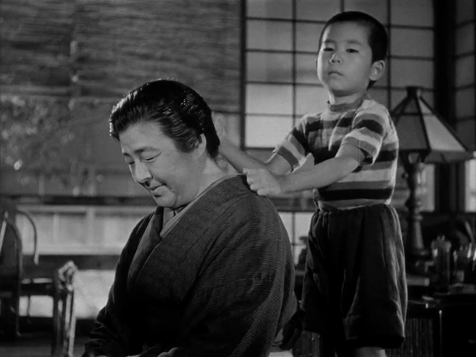 Chieko Higashiyama and Isao Shirosawa in Bakushû (1951)