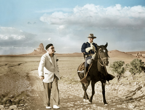John Ford and Tim Holt in Stagecoach (1939)