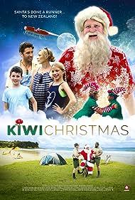 Kari Väänänen, Xavier Horan, Sia Trokenheim, and Luca Andrews in Kiwi Christmas (2017)