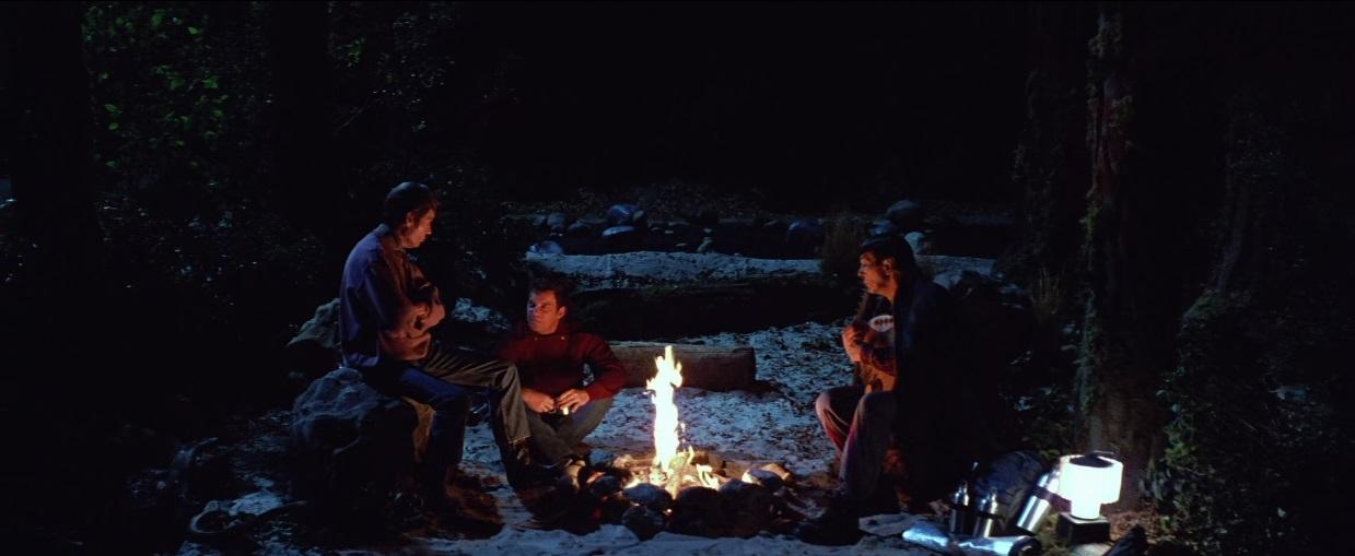 Leonard Nimoy, William Shatner, and DeForest Kelley in Star Trek V: The Final Frontier (1989)
