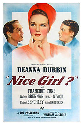 Deanna Durbin, Robert Stack, and Franchot Tone in Nice Girl? (1941)