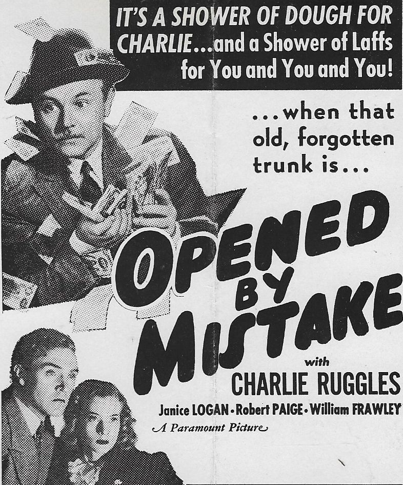 Janice Logan, Robert Paige, and Charles Ruggles in Opened by Mistake (1940)