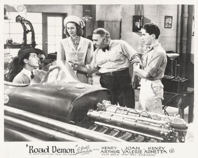 Henry Armetta, Thomas Beck, Johnnie Pirrone Jr., and Joan Valerie in Road Demon (1938)