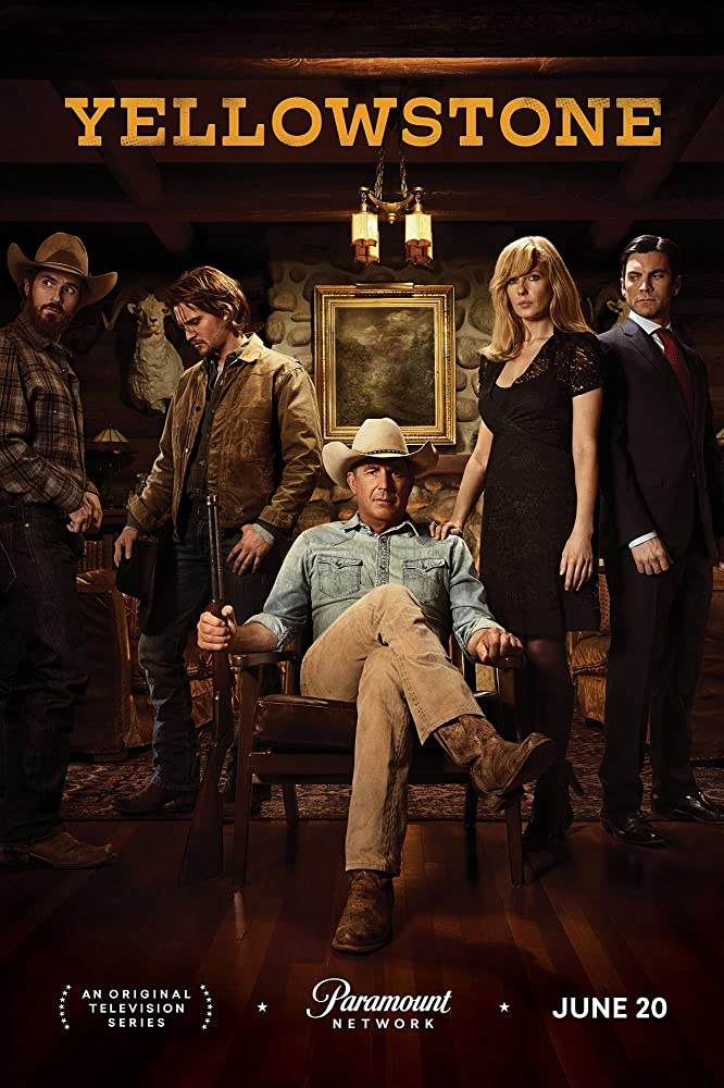 Kevin Costner, Wes Bentley, Kelly Reilly, Dave Annable, and Luke Grimes in Yellowstone (2018) Top tv series of june 2019