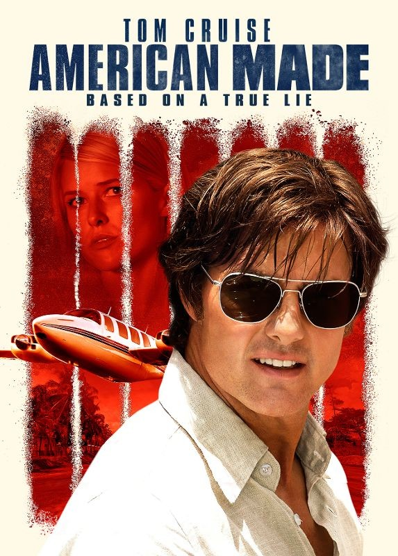 Tom Cruise and Sarah Wright in American Made (2017)