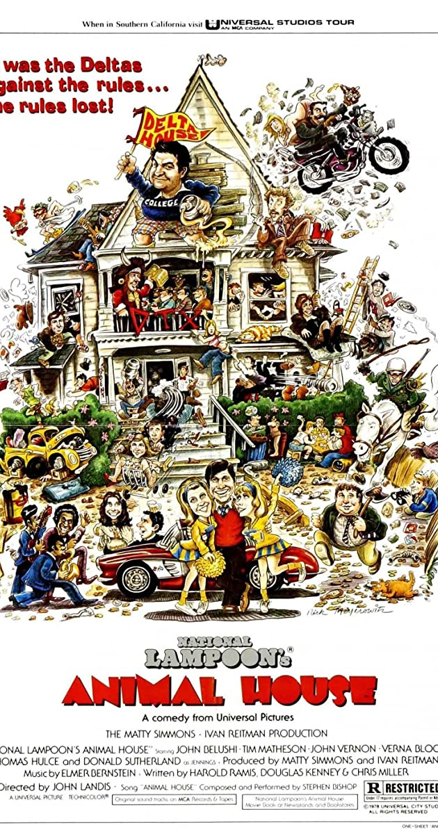 ANIMAL HOUSE PLAQUE MOVIES PICTURE CAST