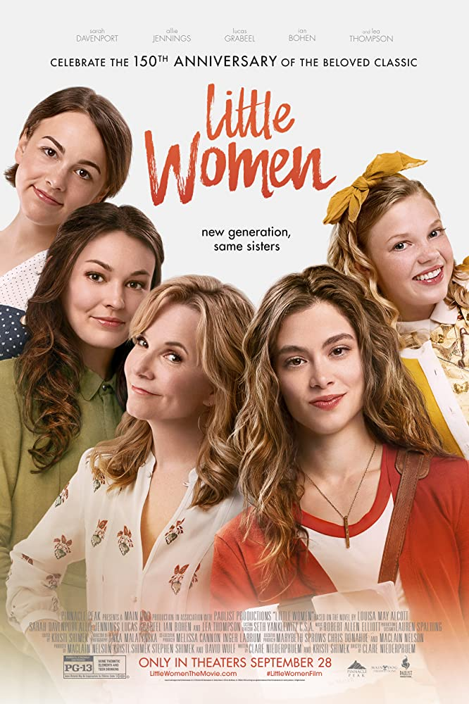 Lea Thompson, Sarah Davenport, Allie Jennings, Melanie Stone, and Elise Jones in Little Women (2018)