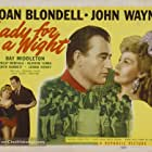 John Wayne, Joan Blondell, Maxine Ardell, Bunny Bronson, Jeanette Dickson, Frances Gladwin, Janet Graves, Loretta Barnett, and Margaret Bryson in Lady for a Night (1942)