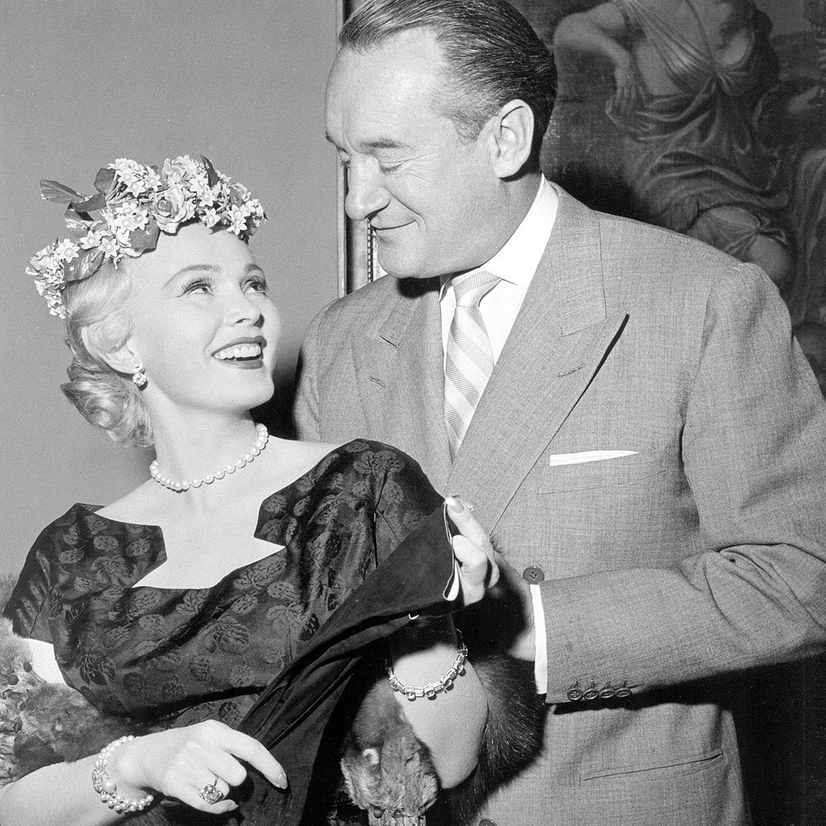 Zsa Zsa Gabor and George Sanders in Death of a Scoundrel (1956)
