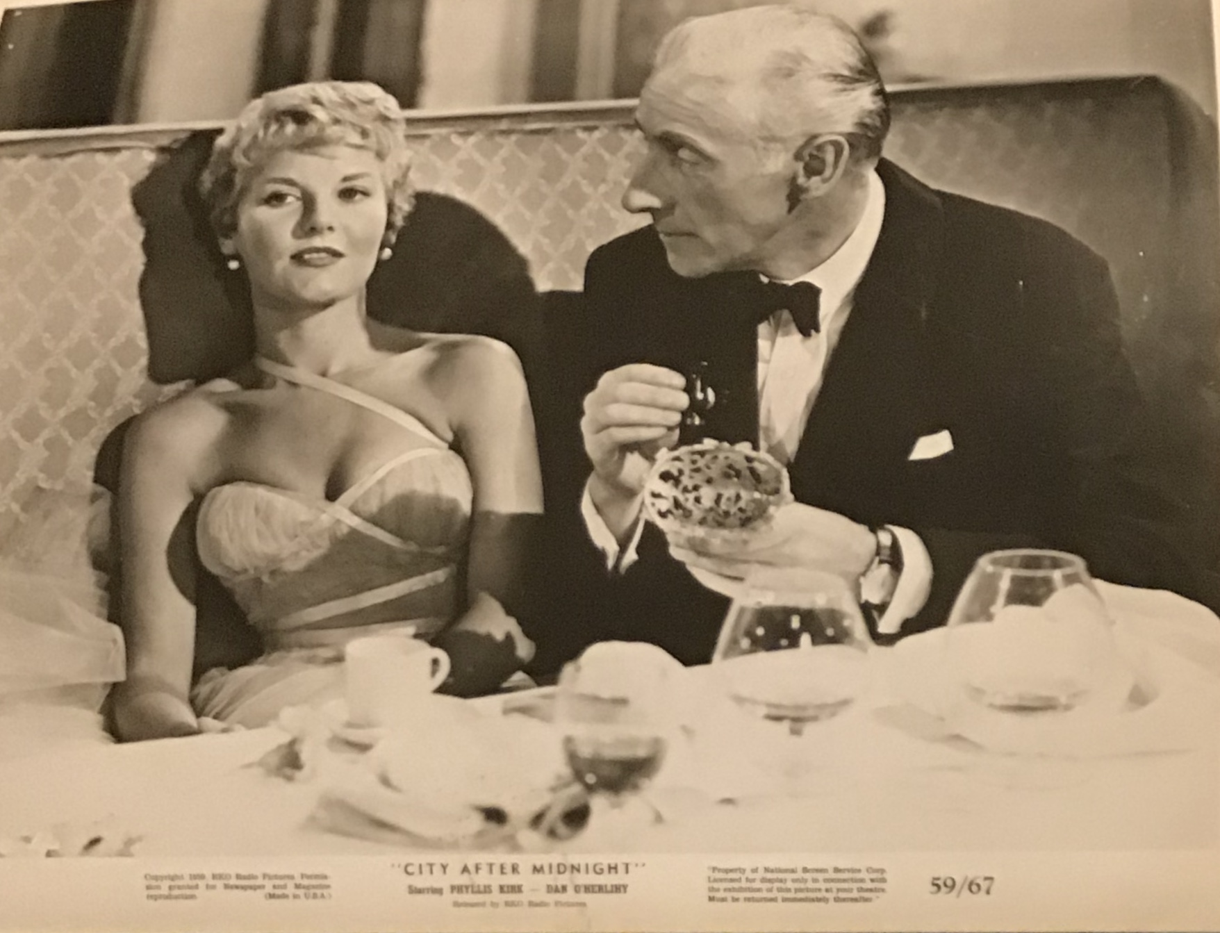 Petula Clark and Wilfrid Hyde-White in That Woman Opposite (1957)