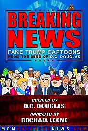 Breaking News: Fake Trump Cartoons! Poster