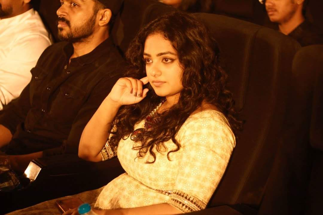Karthi and Nithya Menen at an event for 24 (2016)