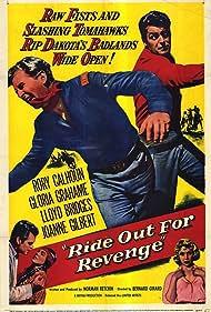 Lloyd Bridges, Rory Calhoun, Gloria Grahame, and Joanne Gilbert in Ride Out for Revenge (1957)