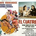 Mario Almada, Rosario Escobar, Vicente Fernández, and Maribel Guardia at an event for El cuatrero (1989)
