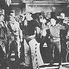 Buzz Barton, Rex Bell, Jack King, Lew Meehan, and Milburn Morante in Gunfire (1934)