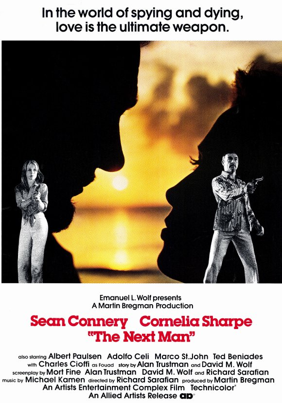 Sean Connery and Cornelia Sharpe in The Next Man (1976)