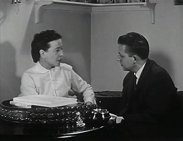 Simone de Beauvoir and Wilfrid Lemoine in Premier Plan (1959)