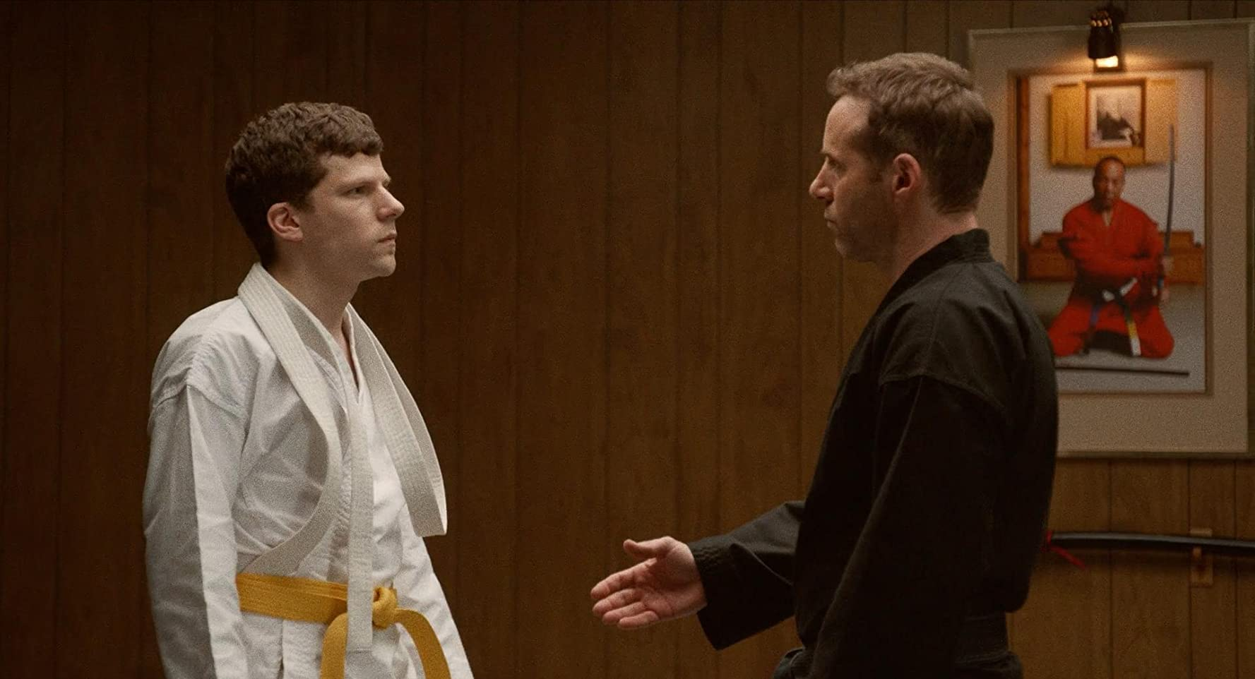 Alessandro Nivola and Jesse Eisenberg in The Art of Self-Defense (2019)