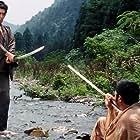 Shintarô Katsu and Tatsuya Nakadai in Zatôichi abare-himatsuri (1970)