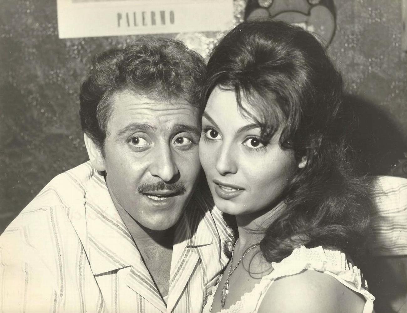 Domenico Modugno and Rosanna Schiaffino in L'onorata società (1961)