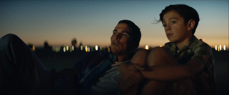 Christian Bale and Noah Jupe in Ford v Ferrari (2019)