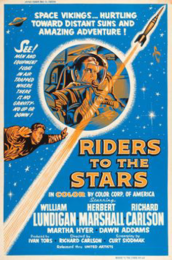 Richard Carlson and William Lundigan in Riders to the Stars (1954)