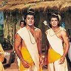 Deepika Chikhalia, Sunil Lahri, Sanjay Jog, Samir Rajda, and Arun Govil in Ramayan (1987)
