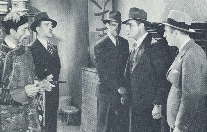 Buster Crabbe, Cyril Delevanti, Wheeler Oakman, James Sheridan, and Tom Steele in Red Barry (1938)