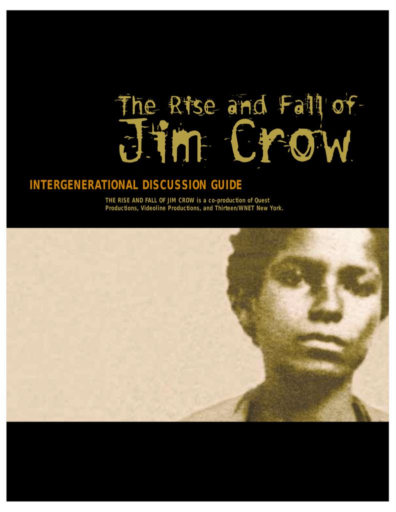 The Rise And Fall Of Jim Crow Tv Mini Series 2002 Imdb