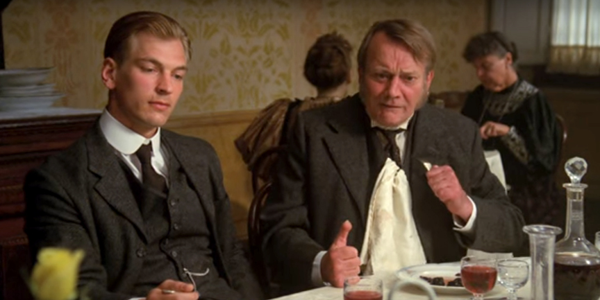 Denholm Elliott and Julian Sands in A Room with a View (1985)